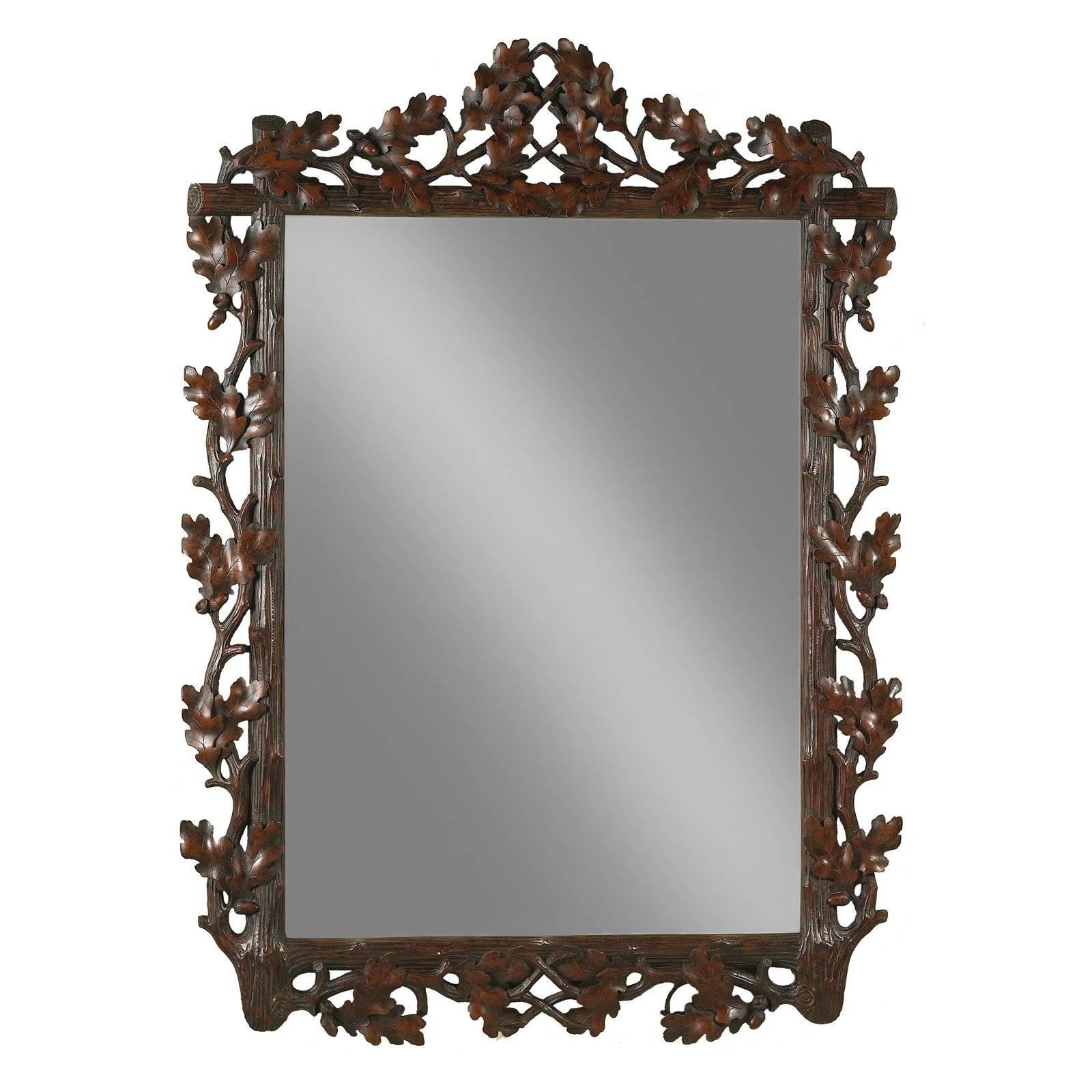 Oklahoma Casting Large Oak Leaf Bevel Wall Mirror - Mirrors At regarding Large Oak Mirrors (Image 21 of 25)