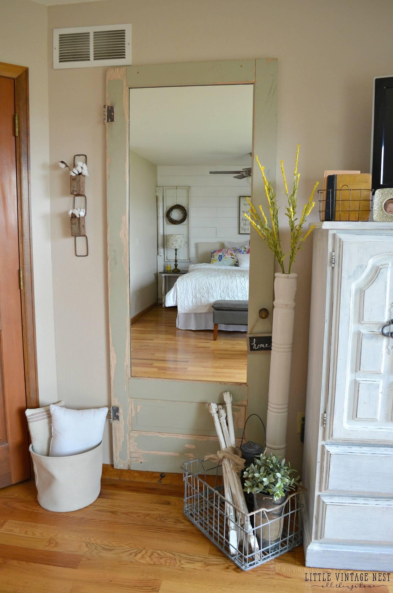Old Door Turned Full Length Mirror - Little Vintage Nest regarding Vintage Full Length Mirrors (Image 21 of 25)