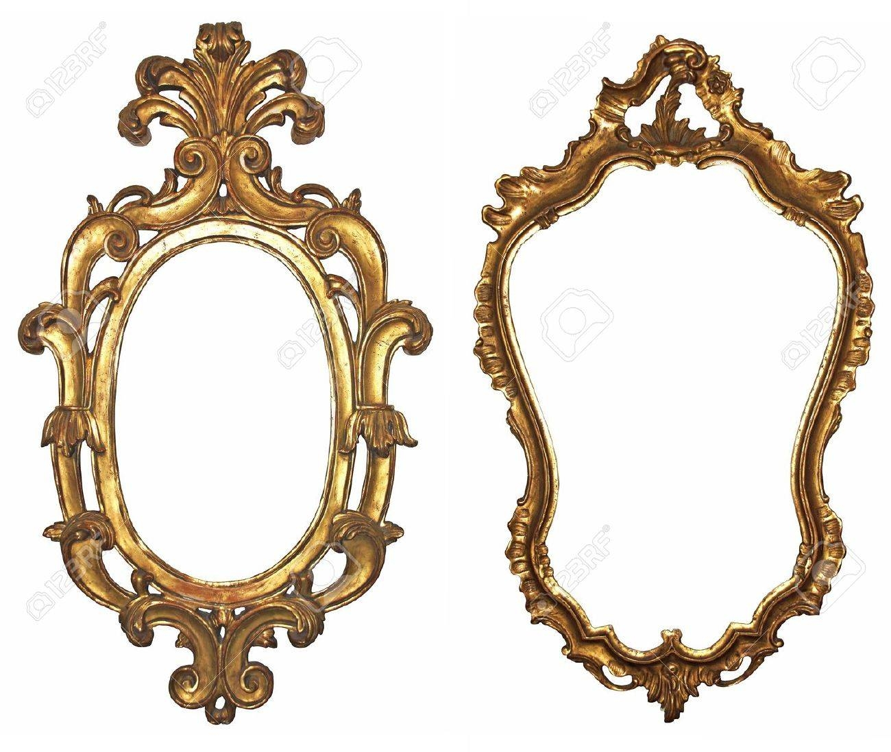 Old Gilded Wooden Frames For Mirrors Stock Photo, Picture And for Ornamental Mirrors (Image 17 of 25)