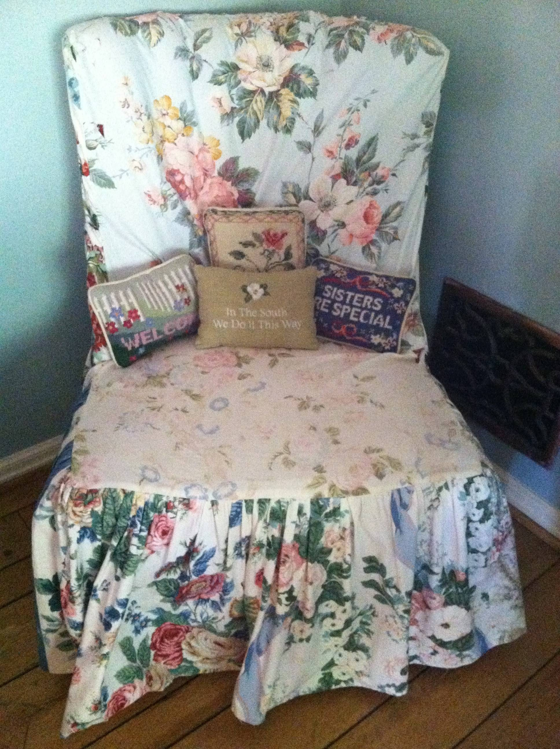 Old Sofa? – Give It The Slip | Two Chums within Chintz Covered Sofas (Image 26 of 30)