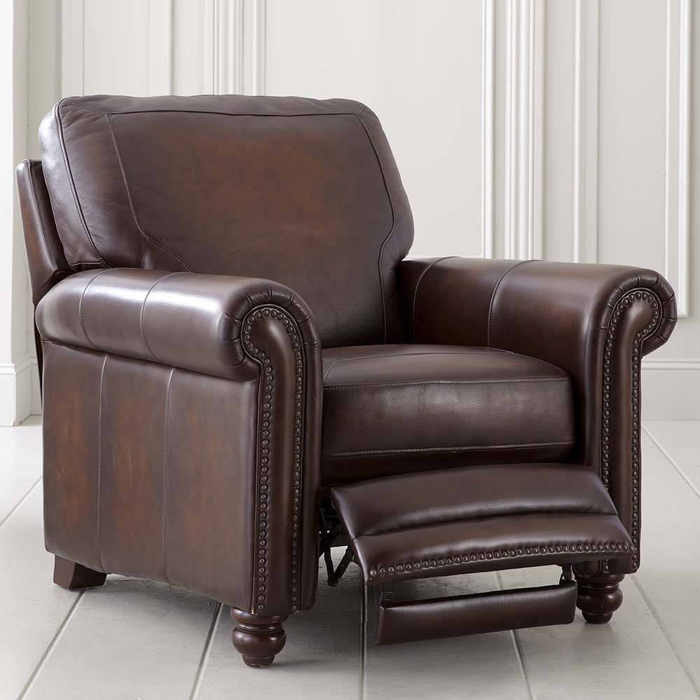 Old World Brown Leather Recliner regarding Sofa Chair Recliner (Image 18 of 30)