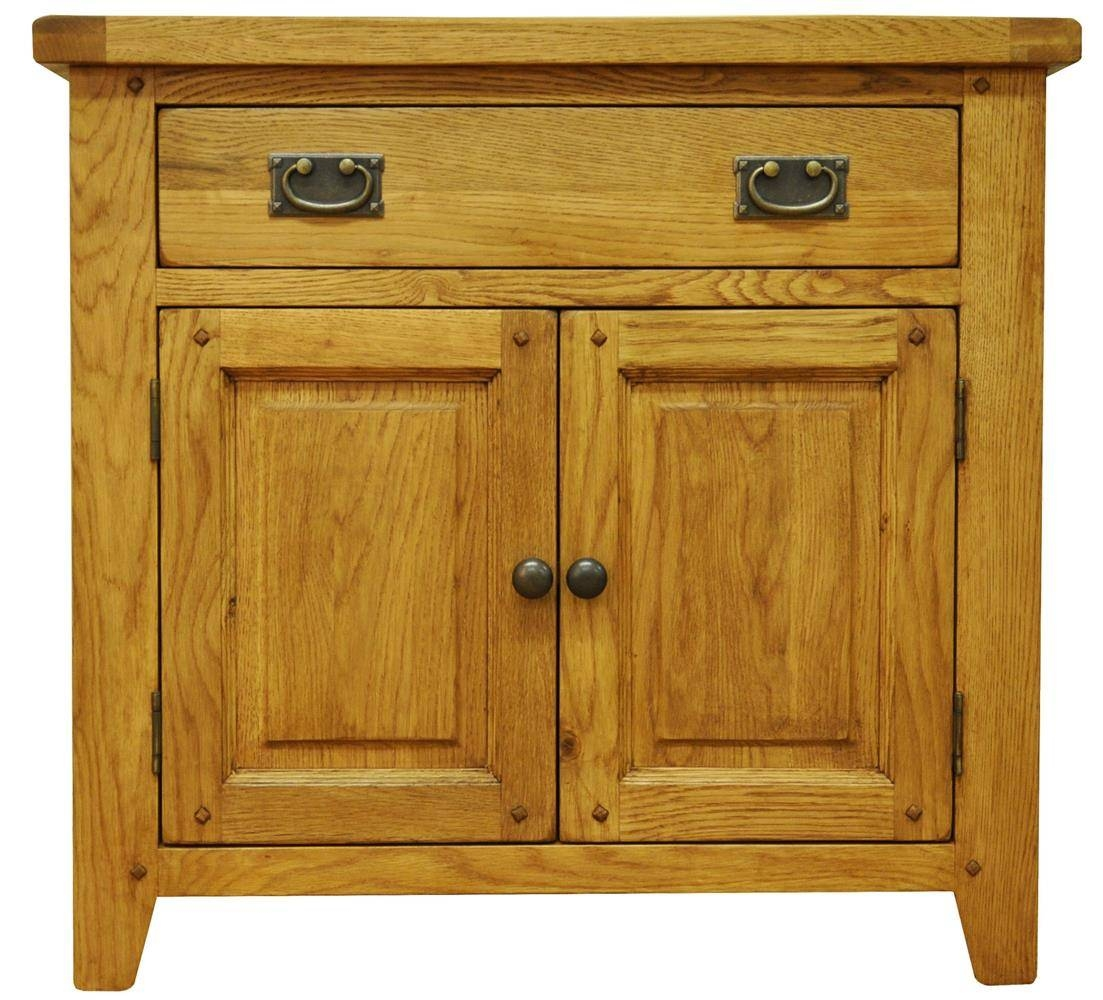 Oldbury Small Rustic Oak Sideboardstanton Small Rustic Oak intended for Small Wooden Sideboards (Image 17 of 30)
