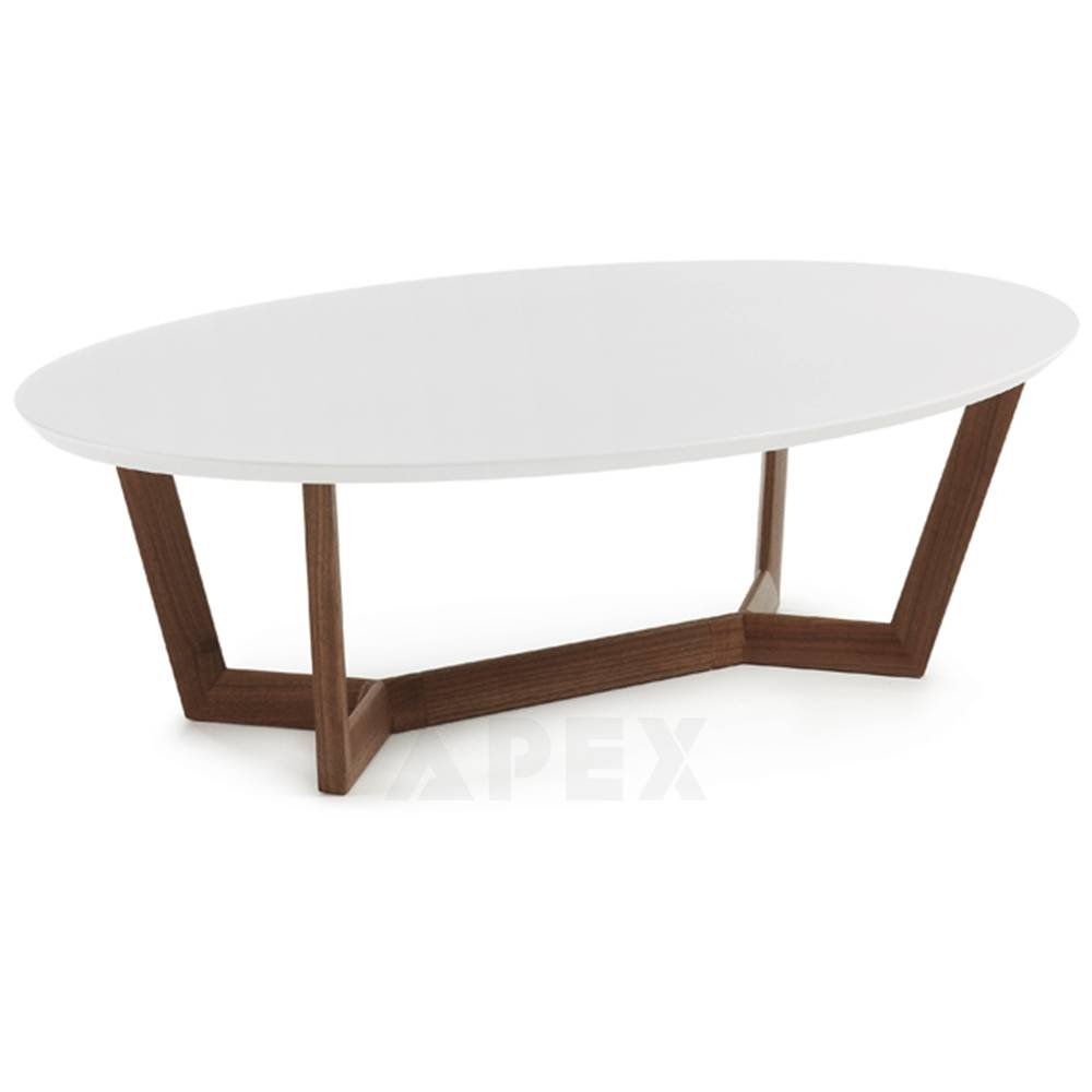 Olesine Oval Coffee Table Walnut Wood Legs | Barons with regard to Oval Walnut Coffee Tables (Image 21 of 30)