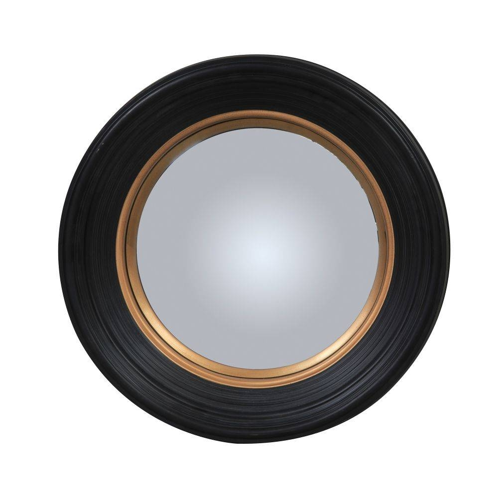 Olly Round Black Convex Mirror - Medium throughout Black Convex Mirrors (Image 13 of 25)