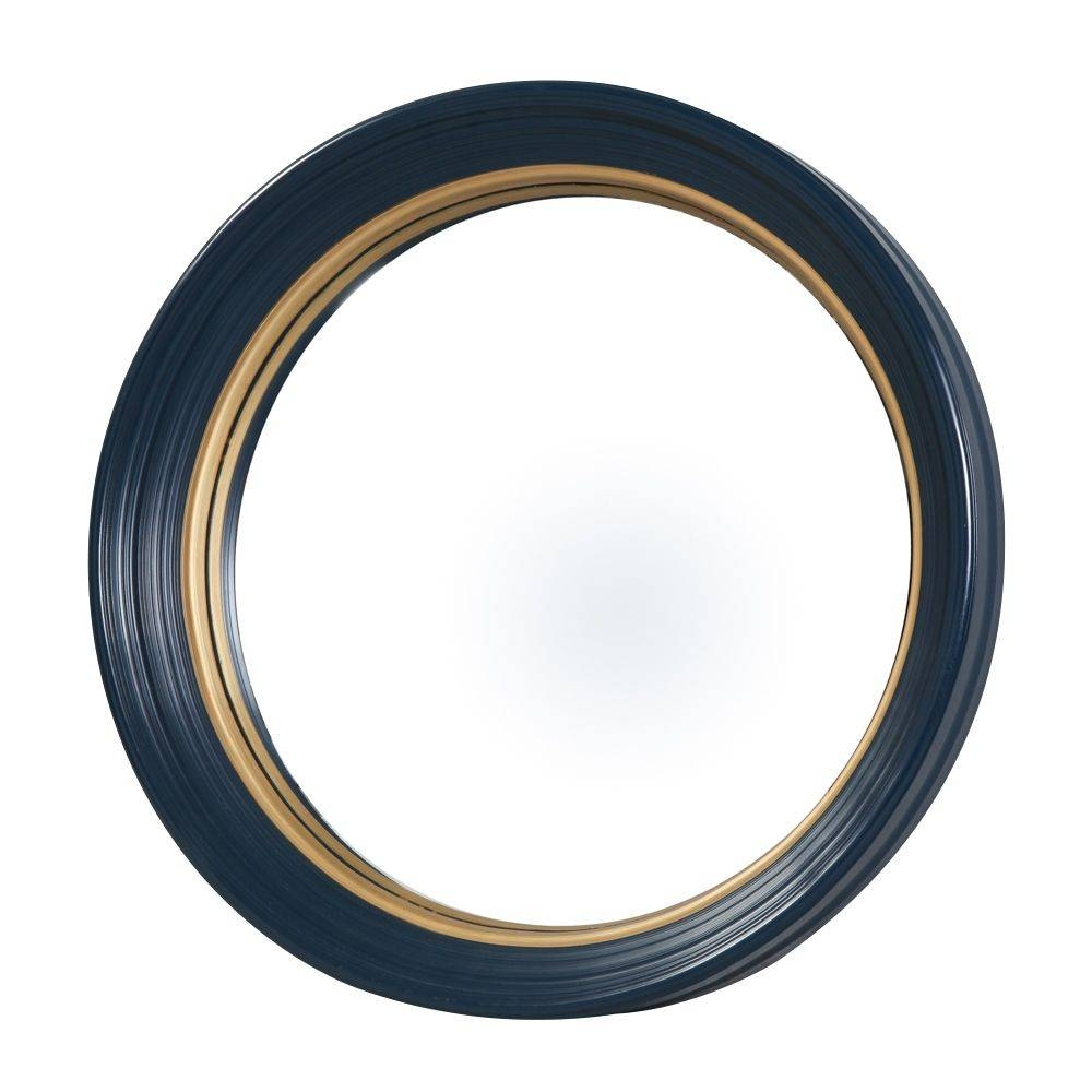 Olly Round Blue Convex Mirror - Large inside Round Convex Mirrors (Image 17 of 25)