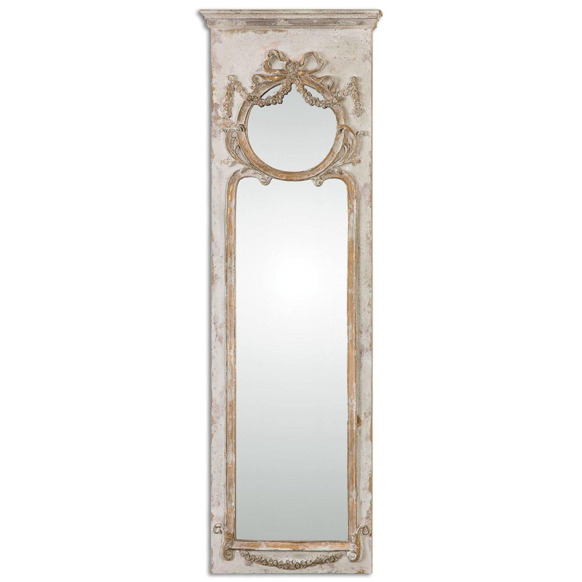 One Allium Way Ivory Ornate Frame Wall Mirror & Reviews | Wayfair with regard to Ivory Ornate Mirrors (Image 15 of 25)
