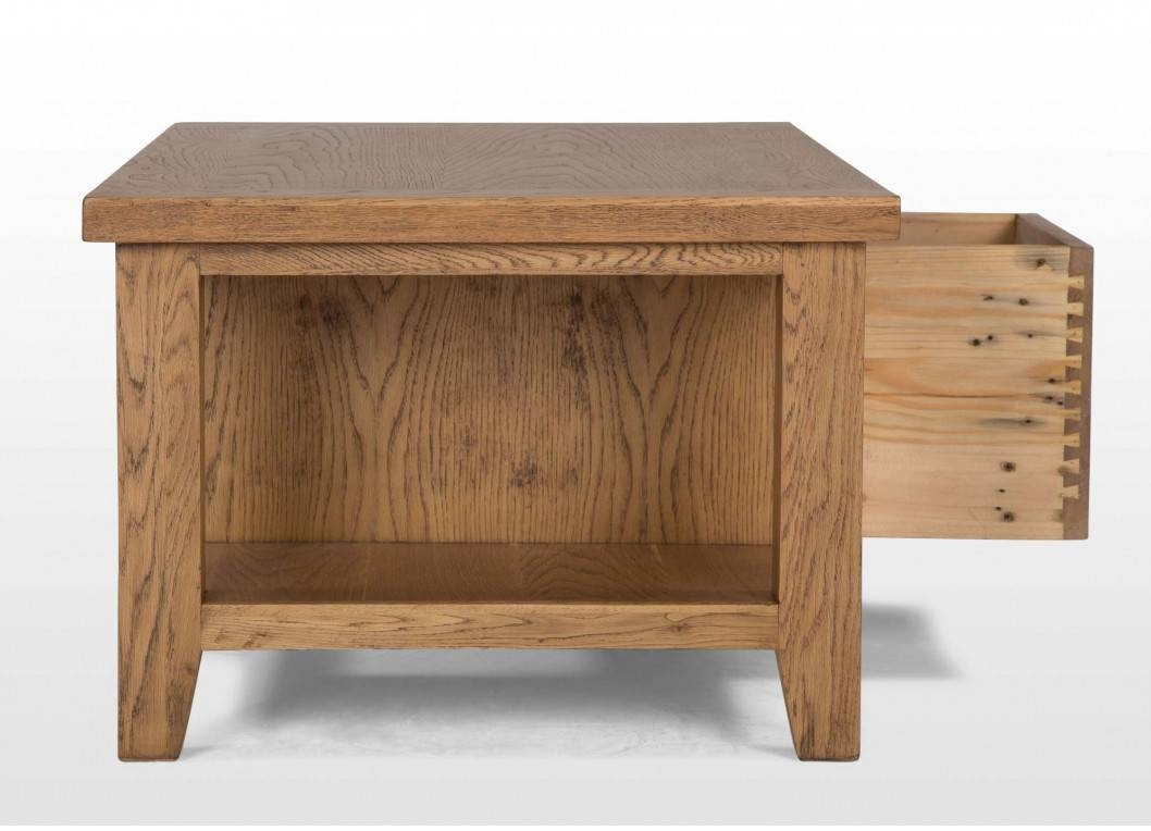 One Drawer Oak Coffee Table - Bordeaux for Bordeaux Coffee Tables (Image 26 of 30)