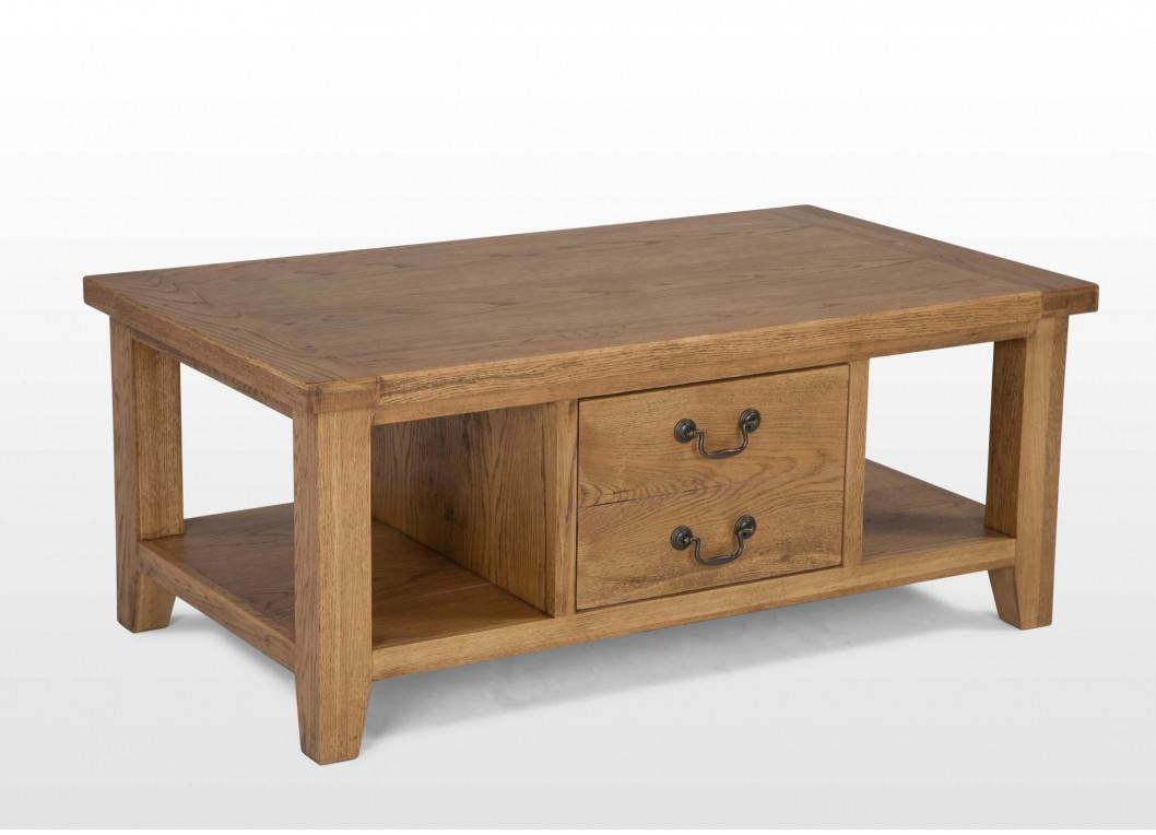One Drawer Oak Coffee Table - Bordeaux inside Bordeaux Coffee Tables (Image 27 of 30)