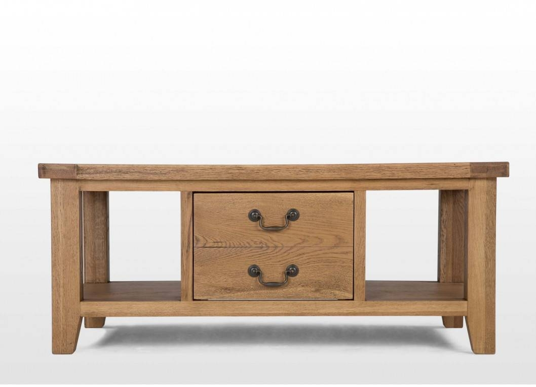 One Drawer Oak Coffee Table - Bordeaux within Bordeaux Coffee Tables (Image 29 of 30)