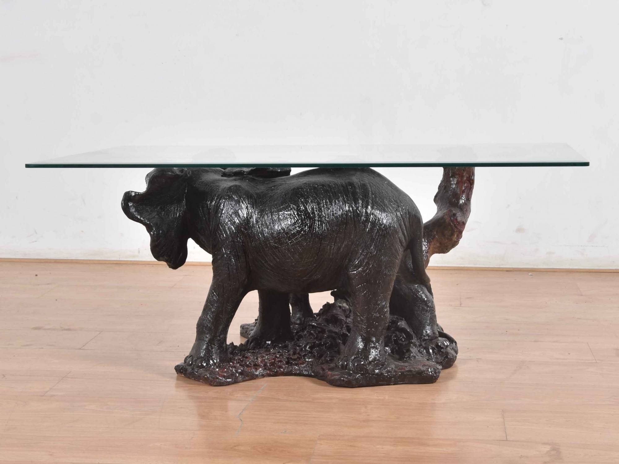 Elephant Glass Top Coffee Table - Glass Designs