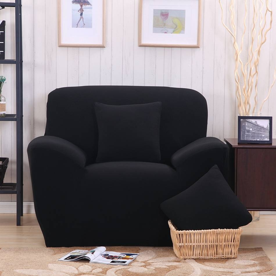 Online Get Cheap Black Sofa Slipcover -Aliexpress | Alibaba Group with Black Slipcovers for Sofas (Image 23 of 30)