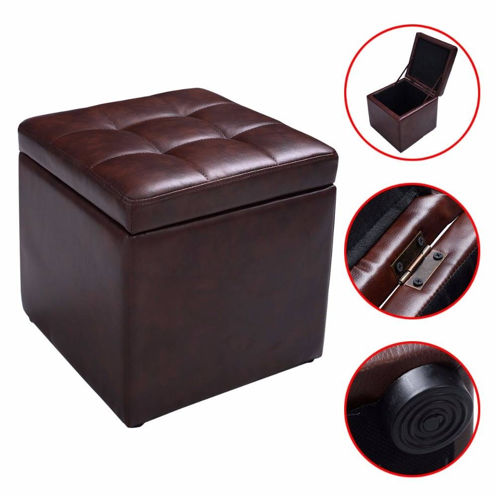 Online Get Cheap Brown Footstool -Aliexpress | Alibaba Group with regard to Footstool Pouffe Sofa Folding Bed (Image 17 of 25)