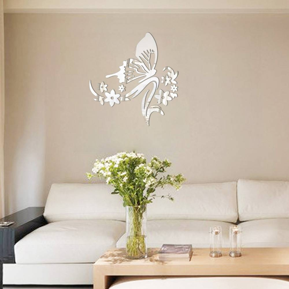 Online Get Cheap Butterfly Wall Mirror -Aliexpress | Alibaba Group intended for Butterfly Wall Mirrors (Image 14 of 25)