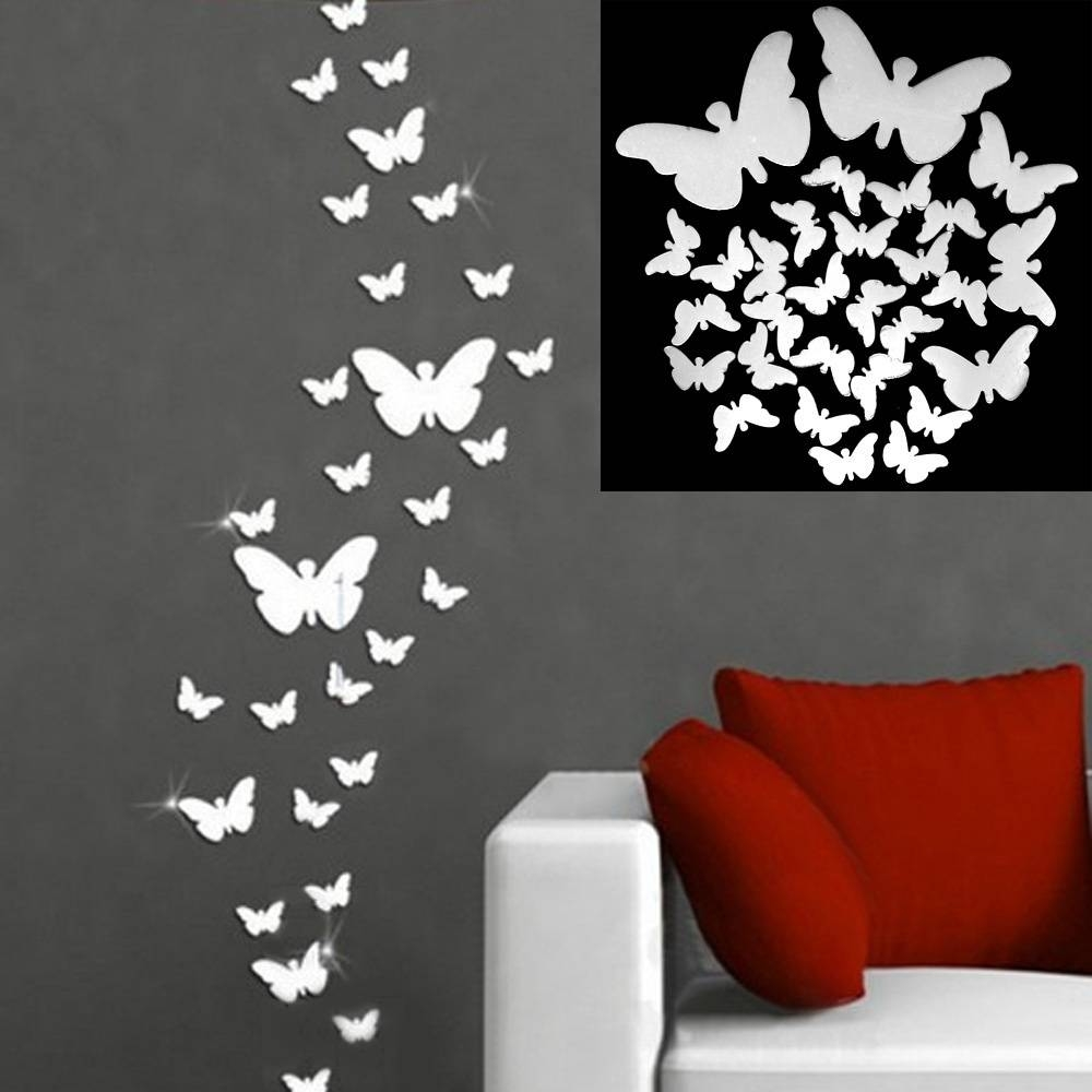 Online Get Cheap Butterfly Wall Mirror -Aliexpress | Alibaba Group throughout Butterfly Wall Mirrors (Image 15 of 25)