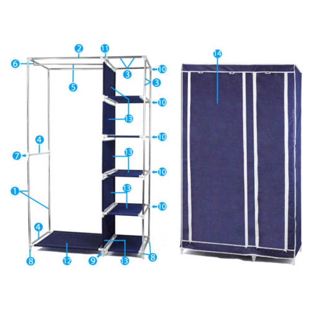 Online Get Cheap Clothes Cupboards -Aliexpress | Alibaba Group pertaining to Double Canvas Wardrobe Rail Clothes Storage Cupboard (Image 18 of 30)