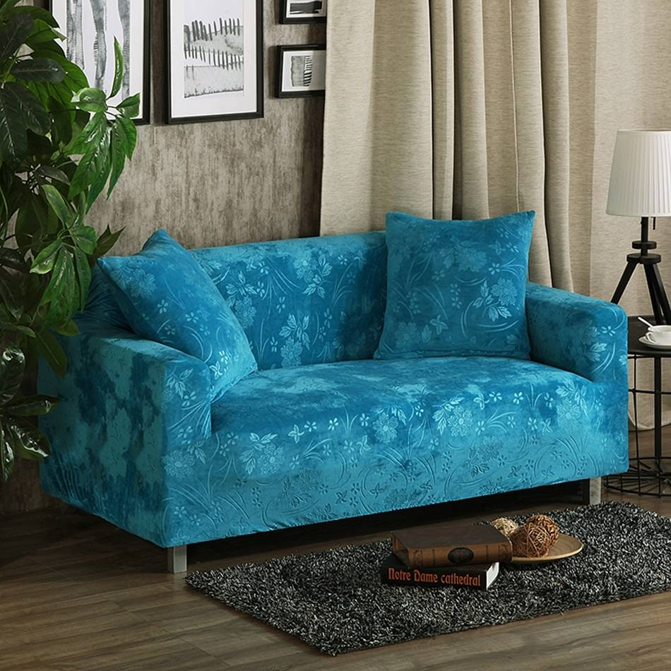 Online Get Cheap Fitted Sofa Covers -Aliexpress | Alibaba Group within Teal Sofa Slipcovers (Image 13 of 30)
