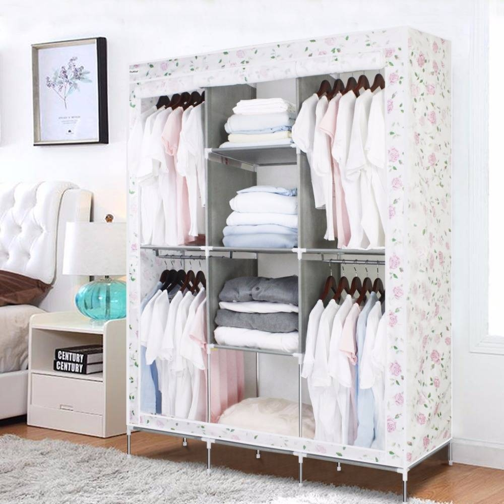 Online Get Cheap Metal Wardrobes -Aliexpress | Alibaba Group intended for Double Canvas Wardrobe Rail Clothes Storage Cupboard (Image 19 of 30)