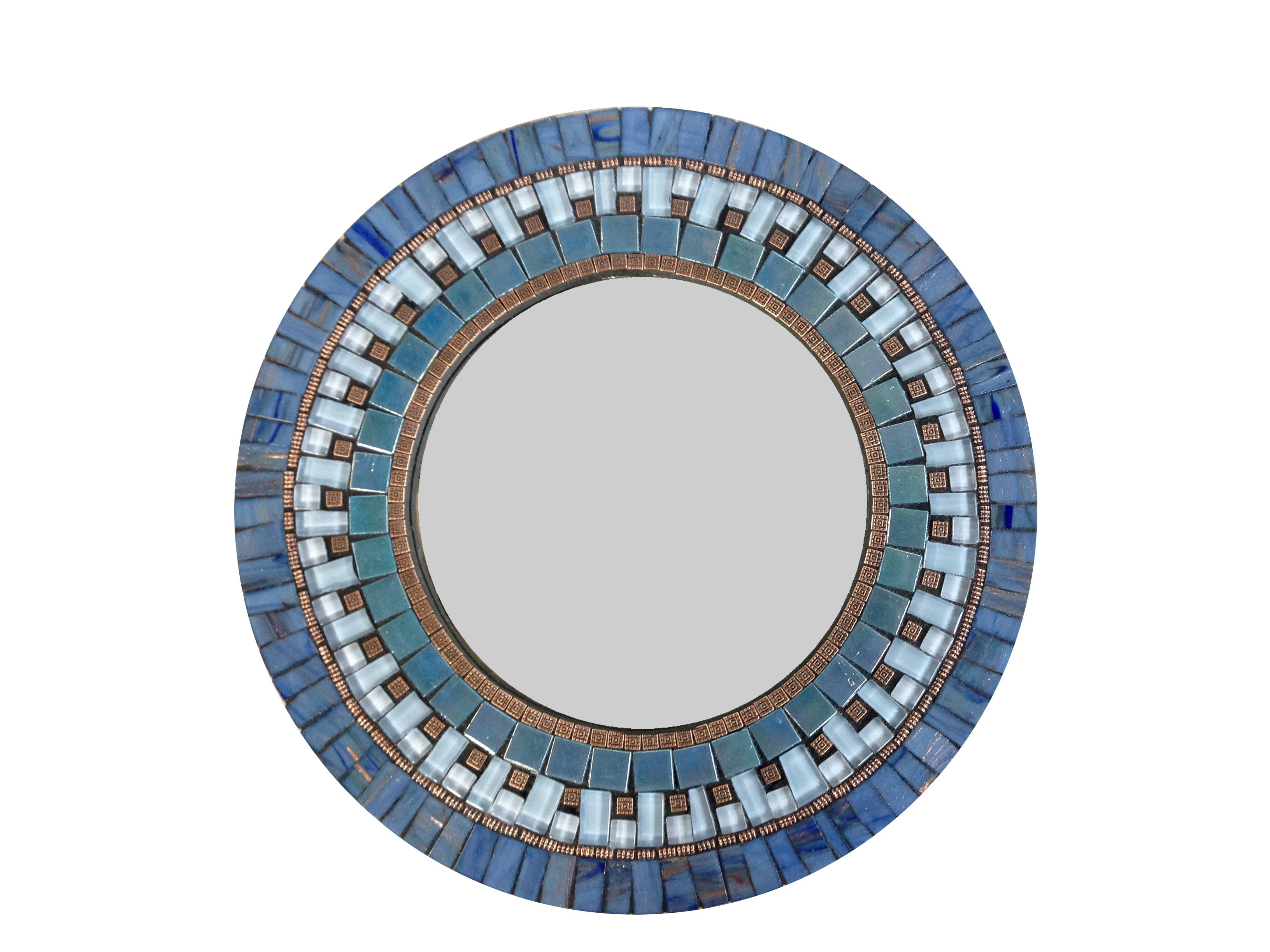 Opus Mosaics 39 Custom Mosaic Mirrorsjosh Hilzendeger Hand for Mosaic Wall Mirrors (Image 18 of 25)