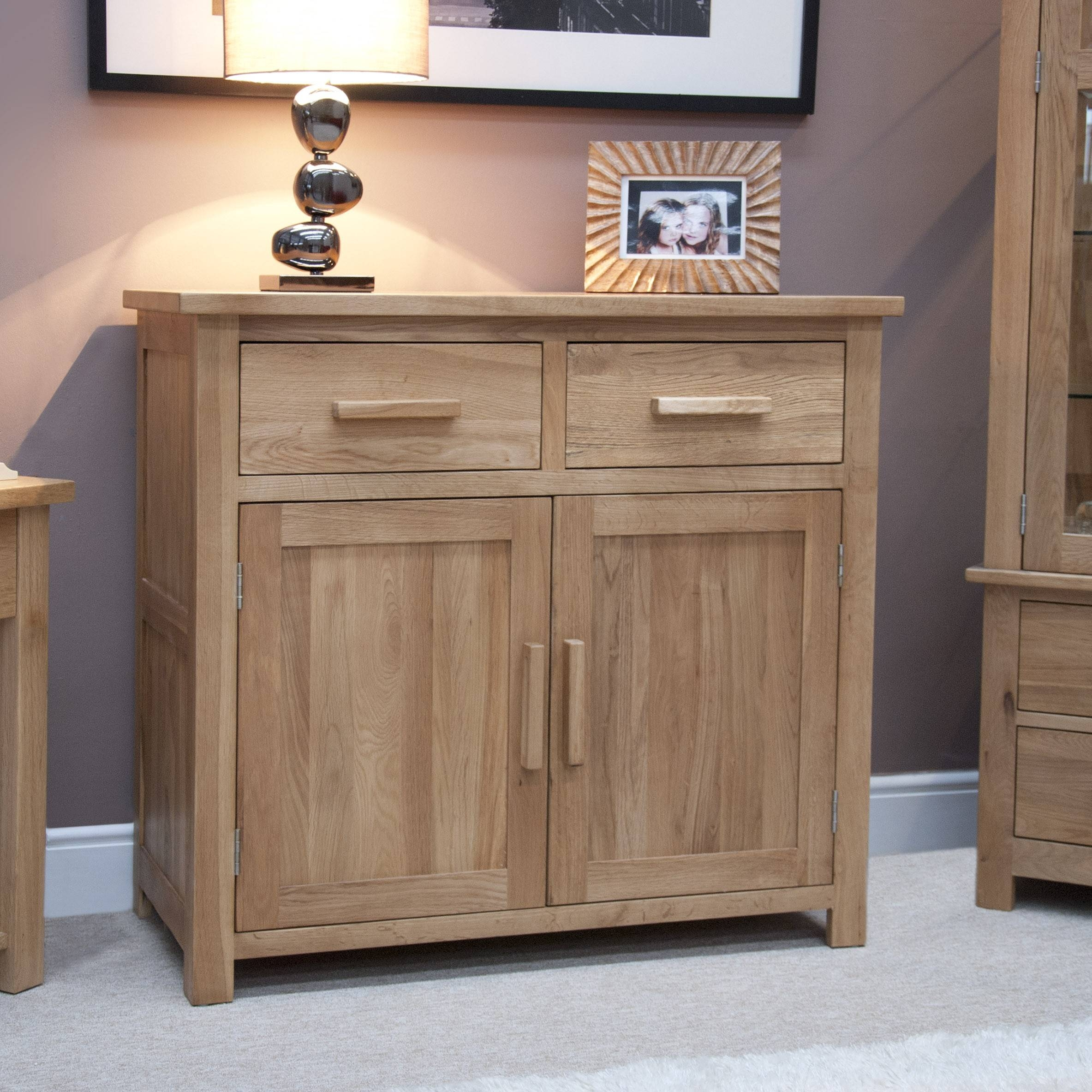 Opus Oak Furniture Small Sideboard | Furniture4Yourhome for Small Wooden Sideboards (Image 18 of 30)