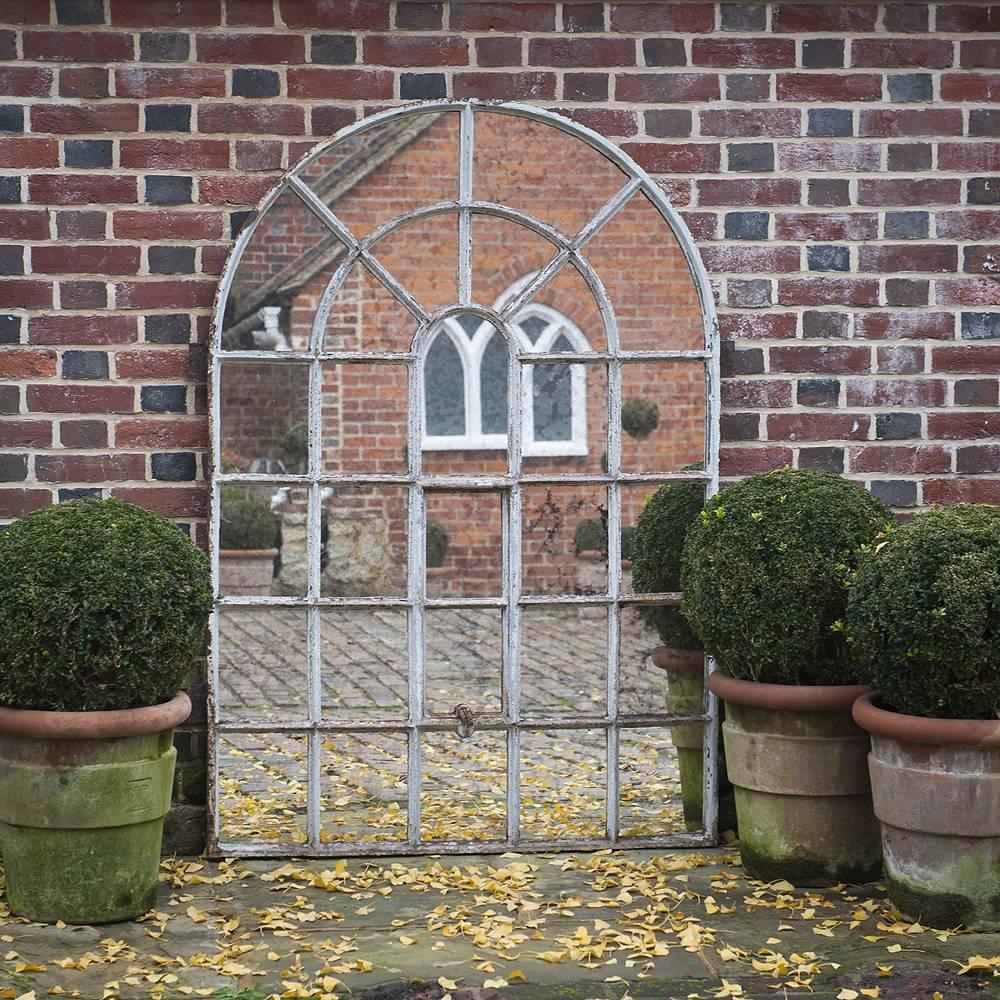 Orangery 28 Panel Cast Iron Window Frame Mirror Orangery-Garden throughout Garden Window Mirrors (Image 21 of 25)