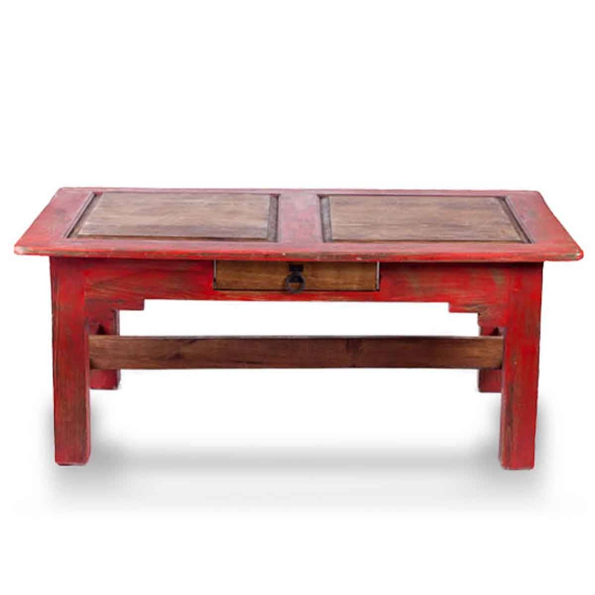 Order Rustic Coffee Tables Online | Buy Reclaimed Wood Coffee intended for Red Coffee Table (Image 18 of 30)