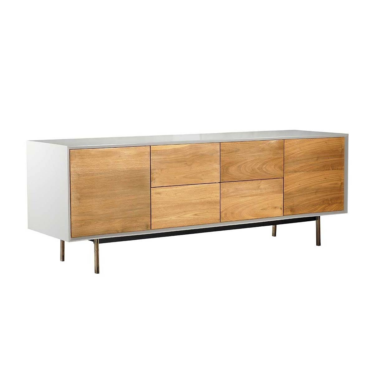 Organic Modernism - Valencia Buffet Sideboard (Beech, White with regard to Beech Sideboards (Image 20 of 30)