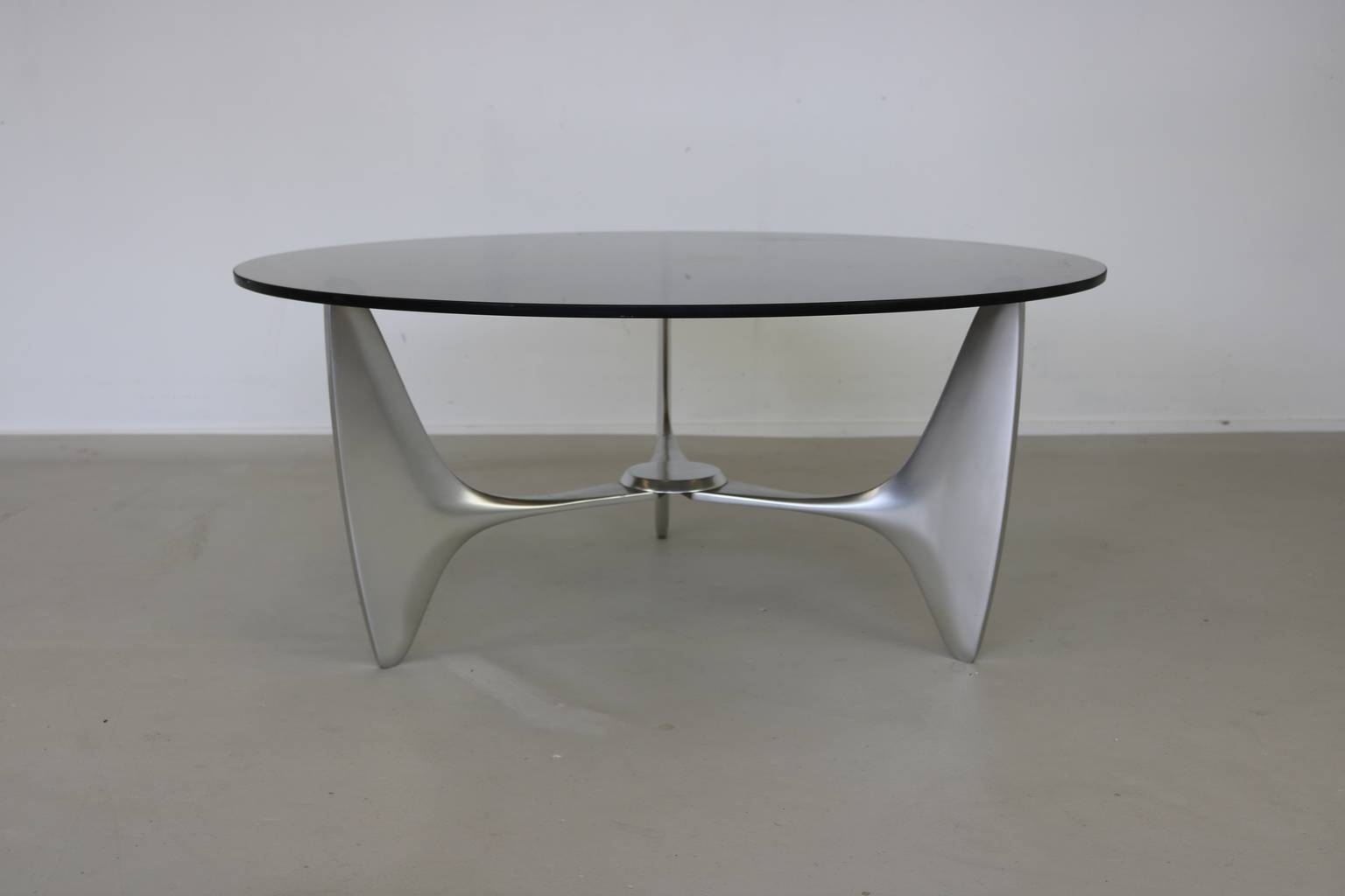 Organically Shaped Cast Aluminium Coffee Table From Ronald Schmitt for Aluminium Coffee Tables (Image 18 of 30)