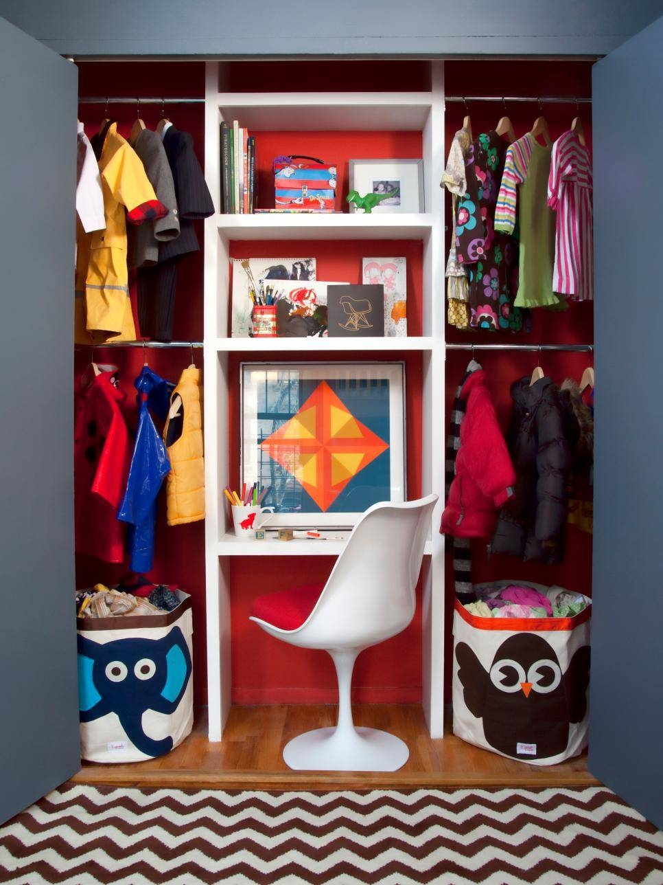 Organizing & Storage Tips For The Pint-Size Set | Hgtv in Childrens Double Rail Wardrobes (Image 28 of 30)