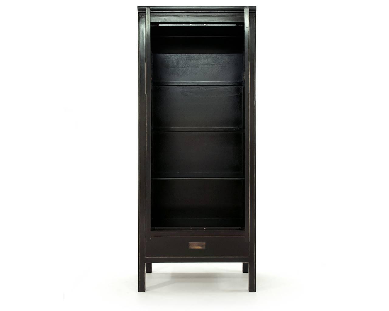 Oriental Black Lacquer Wardrobes - Oriental Shanxi Wardrobe for Black Wardrobes (Image 6 of 15)