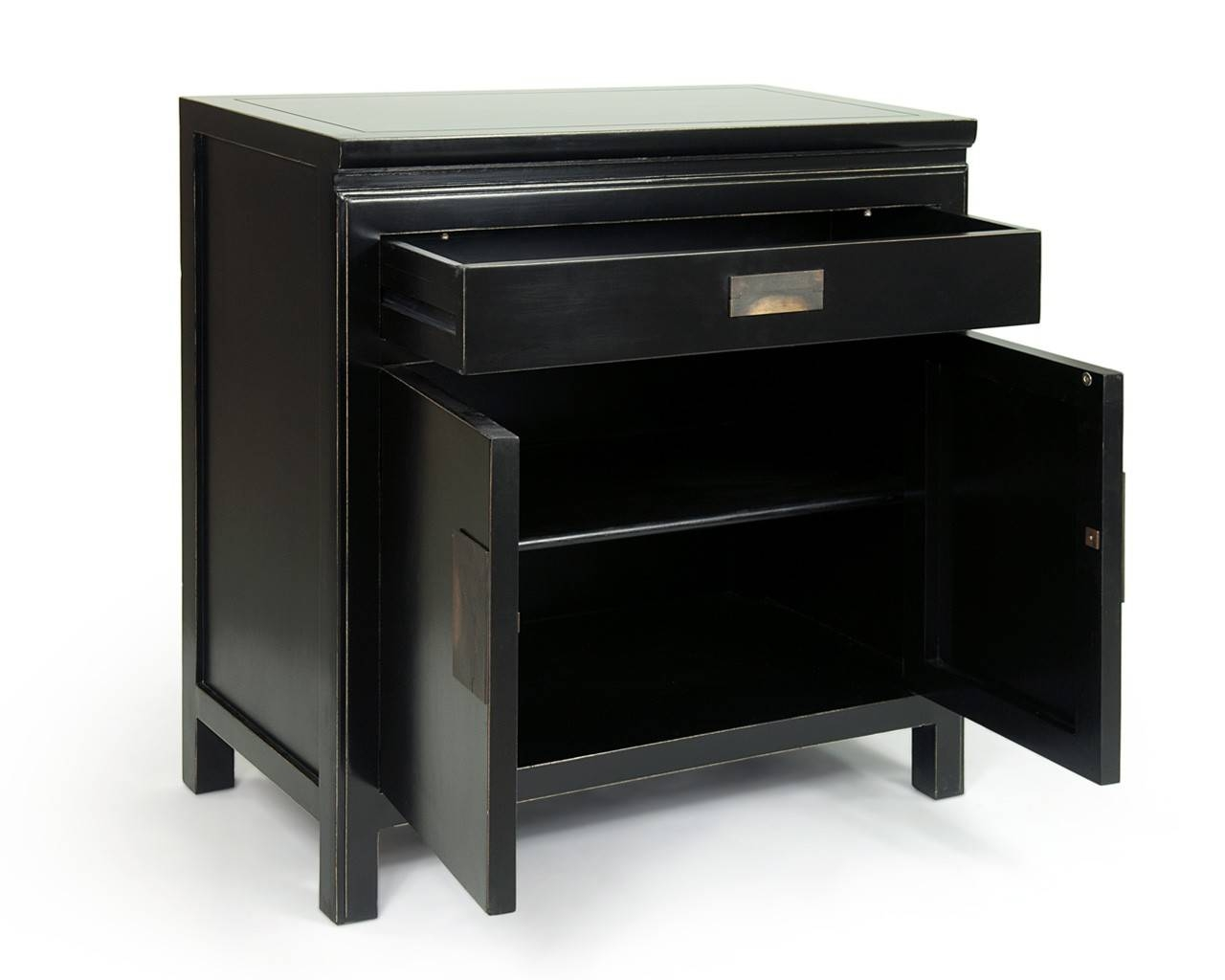 Oriental Black Lacquered Sideboards - Shanxi in Black Sideboards (Image 12 of 30)