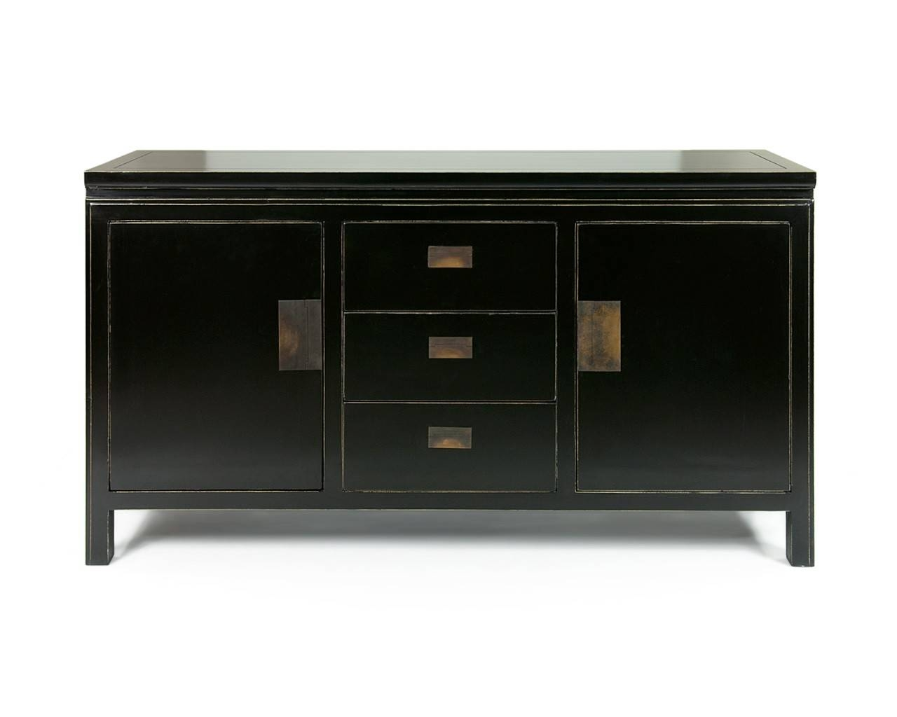 Oriental Black Lacquered Sideboards - Shanxi Large throughout Black Sideboards (Image 14 of 30)