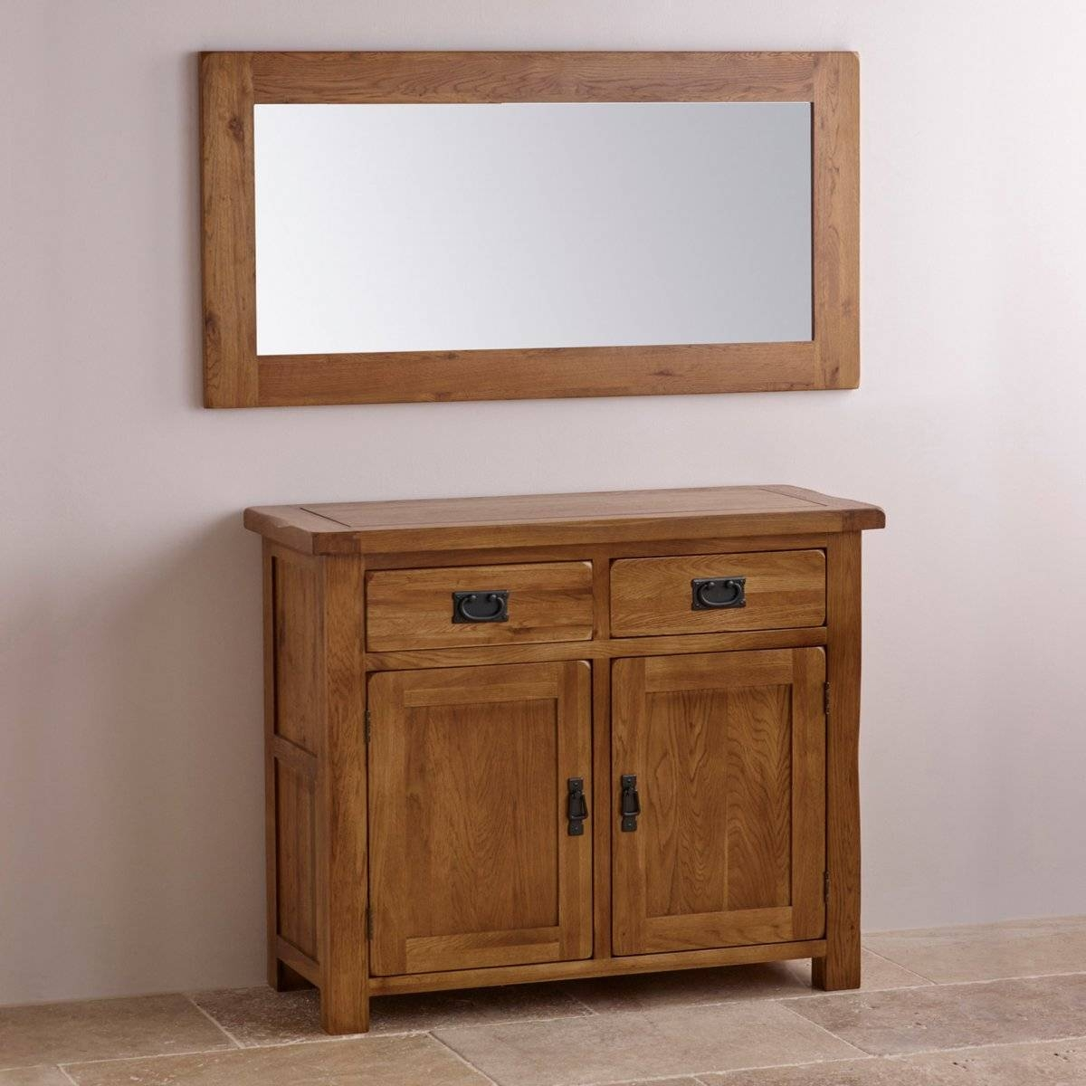 Original Rustic Wall Mirror In Solid Oak | Oak Furniture Land with regard to Rustic Oak Mirrors (Image 16 of 25)