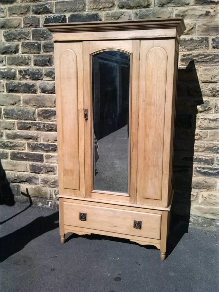 Original Tall Victorian Pine Wardrobe - | In Harrogate, North regarding Victorian Pine Wardrobes (Image 6 of 15)
