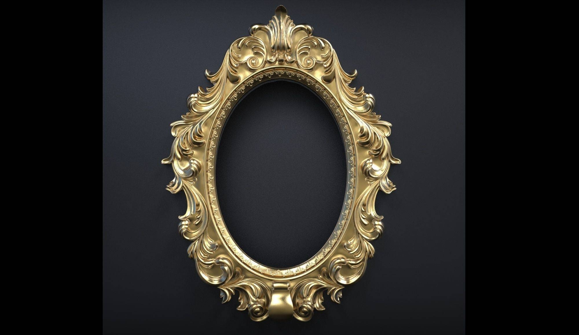 Ornament Frames For Paintings Or Mirrors 3D Model Obj inside Ornamental Mirrors (Image 18 of 25)