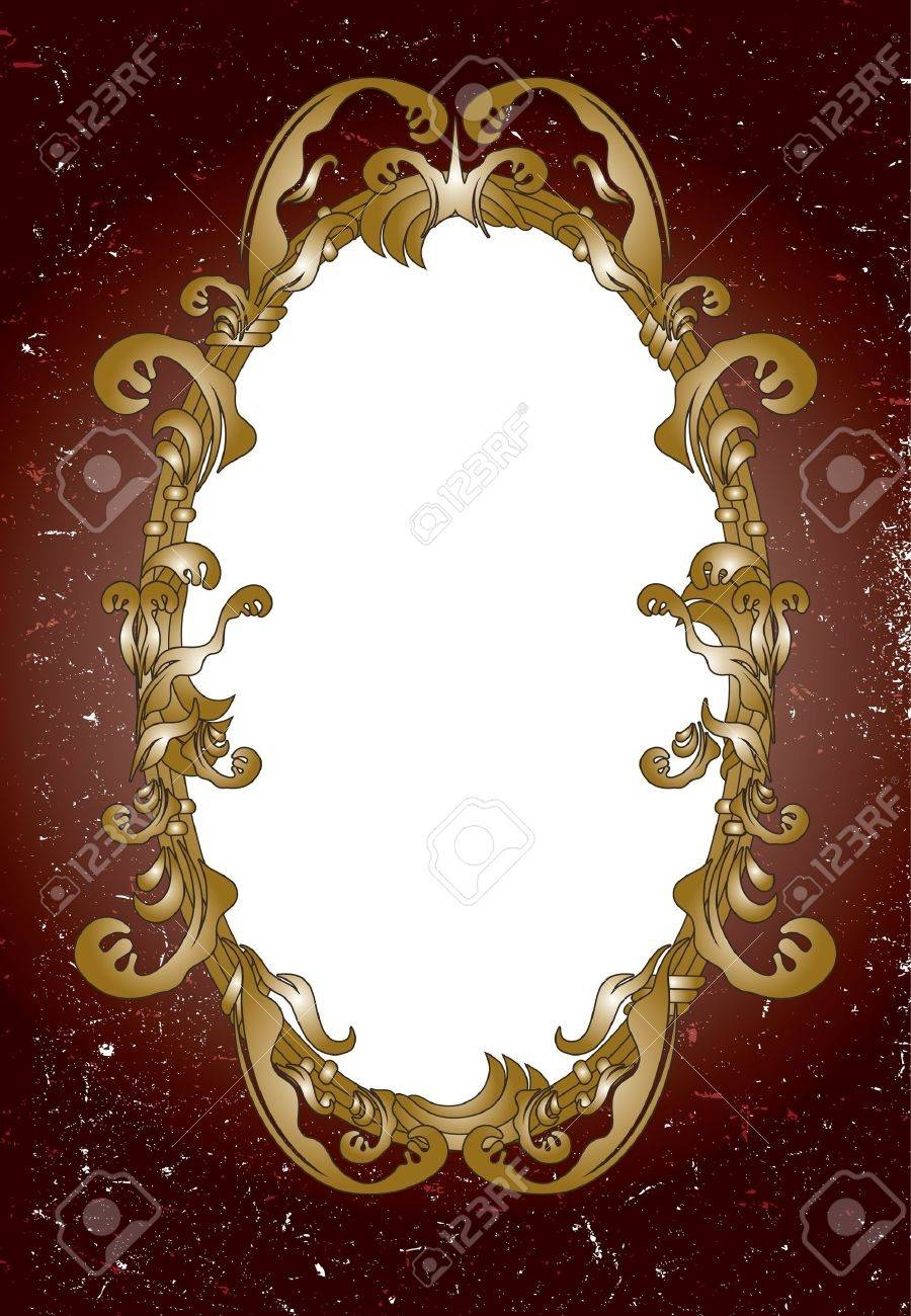Ornamental Mirror Frame Royalty Free Cliparts, Vectors, And Stock within Ornamental Mirrors (Image 19 of 25)