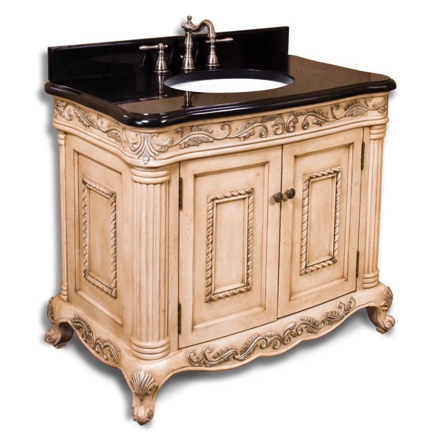 Ornate Bathroom Cabinet Ornate Bathroom Vanity – Easy2Do inside Large White Ornate Mirrors (Image 14 of 25)