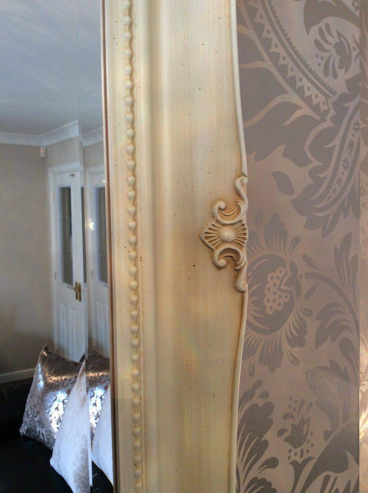 Ornate Cream Ivory Shabby Chic French Inspired Mirror - Bargain inside Ivory Ornate Mirrors (Image 16 of 25)