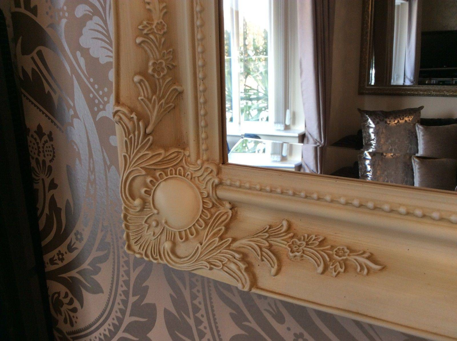 Ornate Cream Ivory Shabby Chic French Inspired Mirror - Bargain within Ivory Ornate Mirrors (Image 17 of 25)