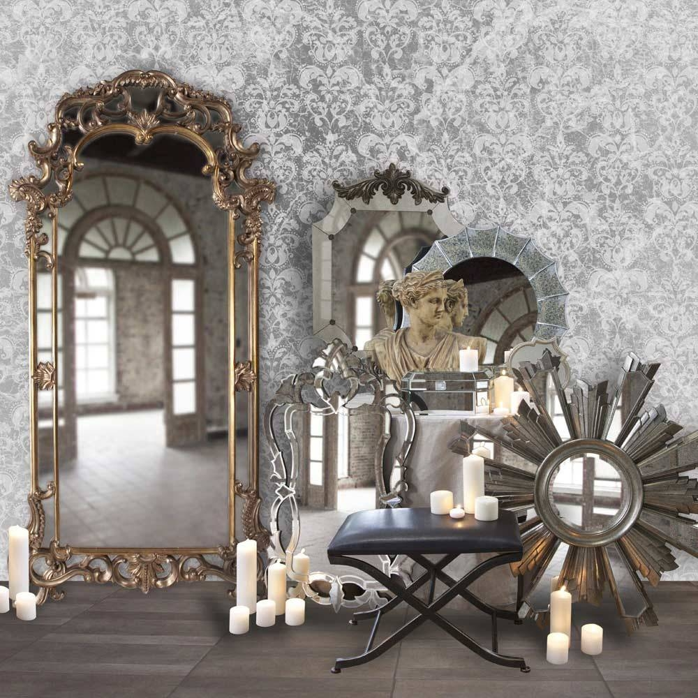 Ornate Frame Venetian Designer Wall Mirror Hre 103 | Accent Mirrors within Ornate Wall Mirrors (Image 21 of 25)