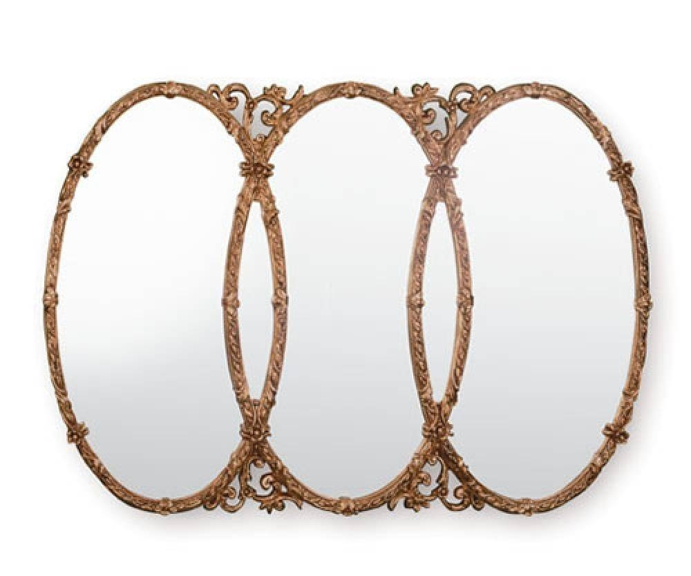 Ornate Gilt Mirrors - Yg240 Triple Gold Mirror - Ireland throughout Triple Oval Mirrors (Image 16 of 25)