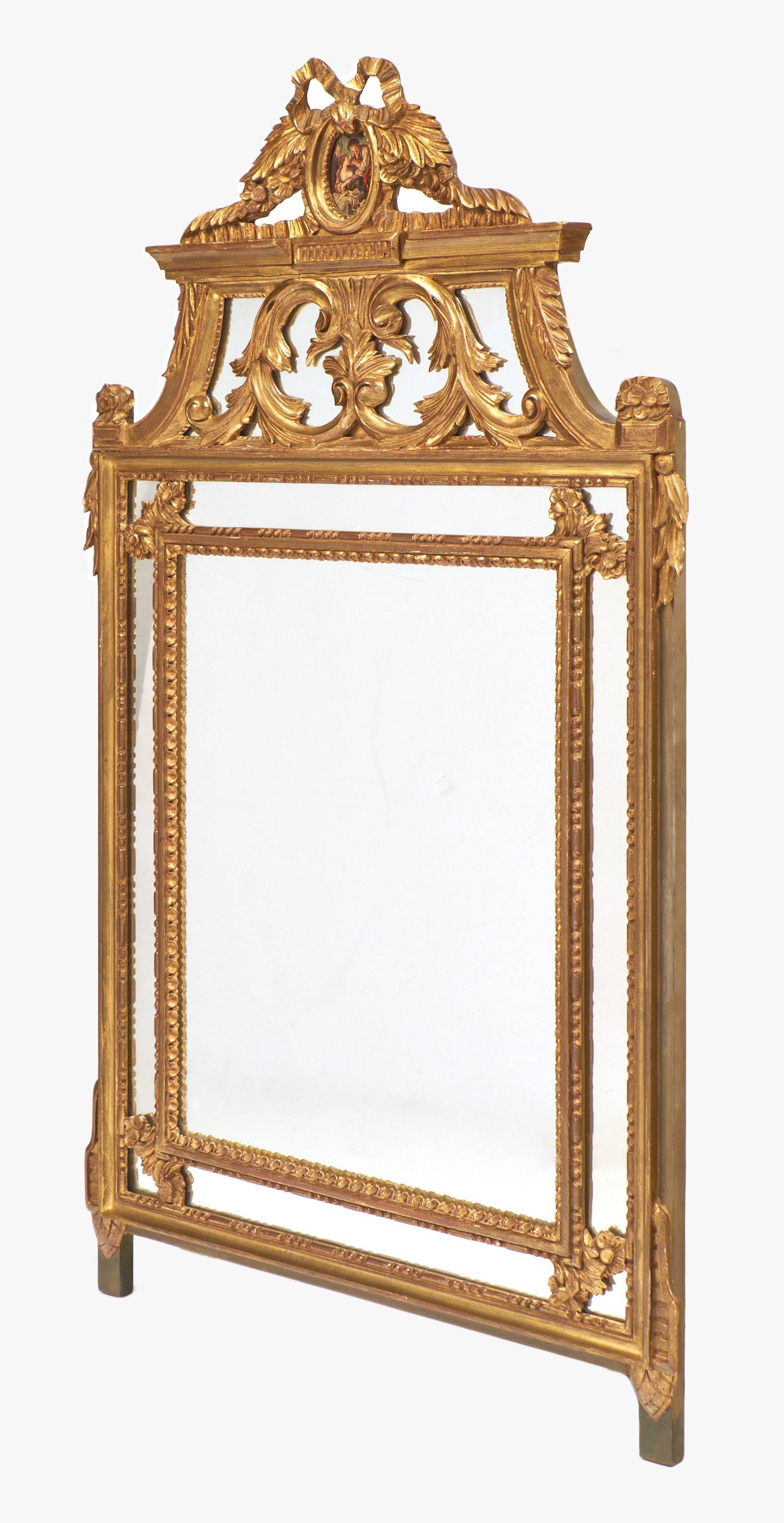 Ornate Gold Leaf Louis Xvi Mirror - Jean Marc Fray for Gold Ornate Mirrors (Image 16 of 25)