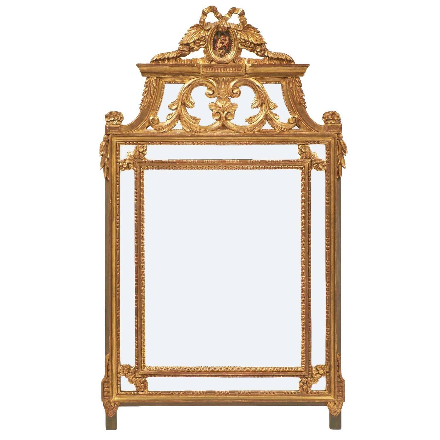 Ornate Gold Leaf Louis Xvi Mirror - Jean Marc Fray intended for Gold Ornate Mirrors (Image 17 of 25)