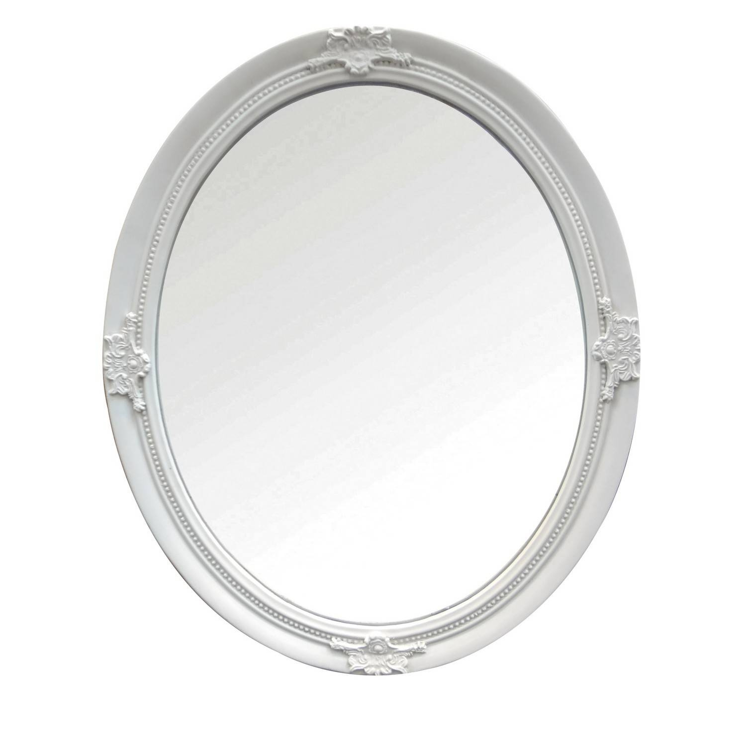 Ornate Ivory Oval Mirror for Ornate Oval Mirrors (Image 15 of 25)