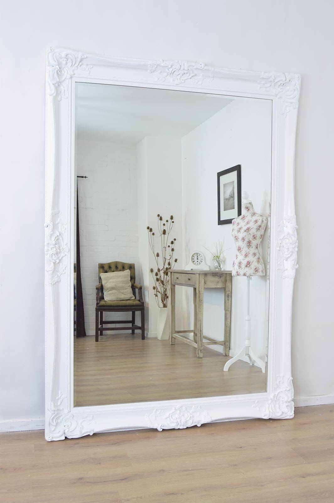 Featured Photo of Large Ornate White Mirrors