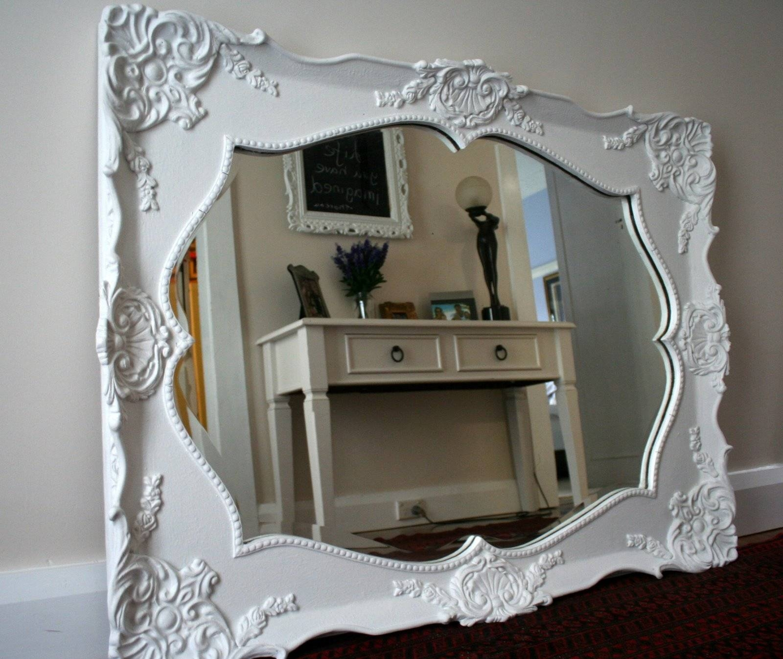 Ornate Mirrors For Sale 35 Cute Interior And Mirror A Large White within White Ornate Mirrors (Image 14 of 25)