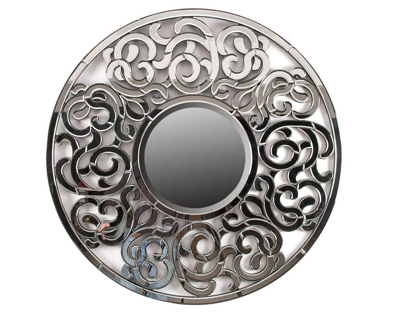 Ornate Round Mirror - Designer Wall Art - Puji Accessories inside Ornate Round Mirrors (Image 20 of 25)
