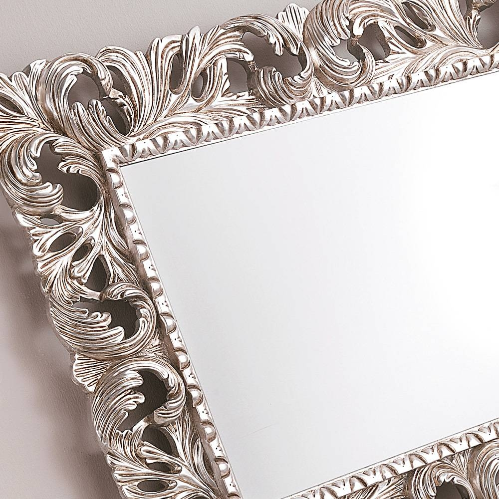 Ornate Silver Leaf Rococo Wall Mirror | Juliettes Interiors for Ornate Silver Mirrors (Image 17 of 25)