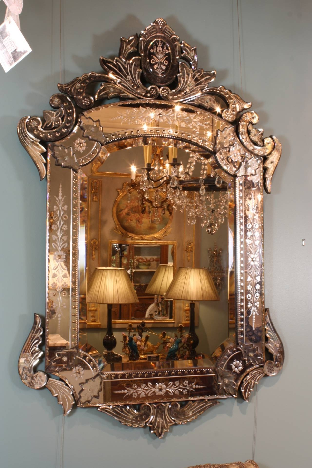 Ornate Venetian Rococo Mirror For Sale At 1Stdibs with regard to Rococo Mirrors (Image 19 of 25)