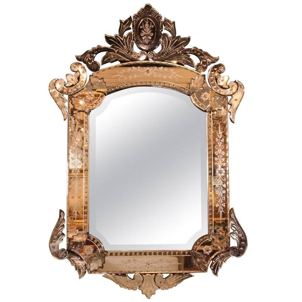 Ornate Venetian Rococo Mirror For Sale At 1Stdibs with regard to Rococo Mirrors (Image 18 of 25)