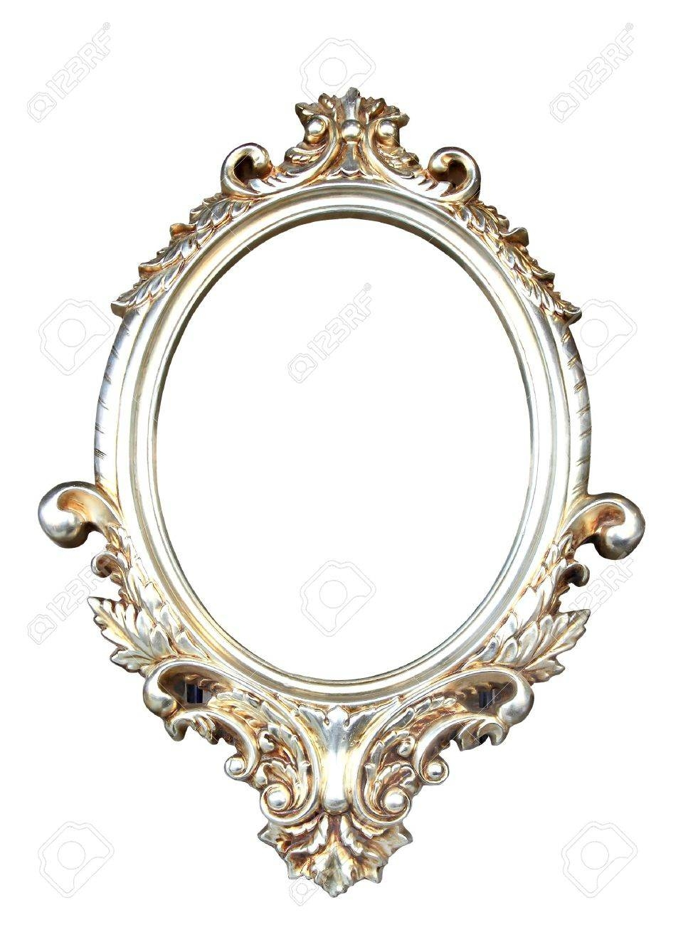 Ornate Vintage Frame With Clipping Path Stock Photo, Picture And inside Ornate Oval Mirrors (Image 16 of 25)